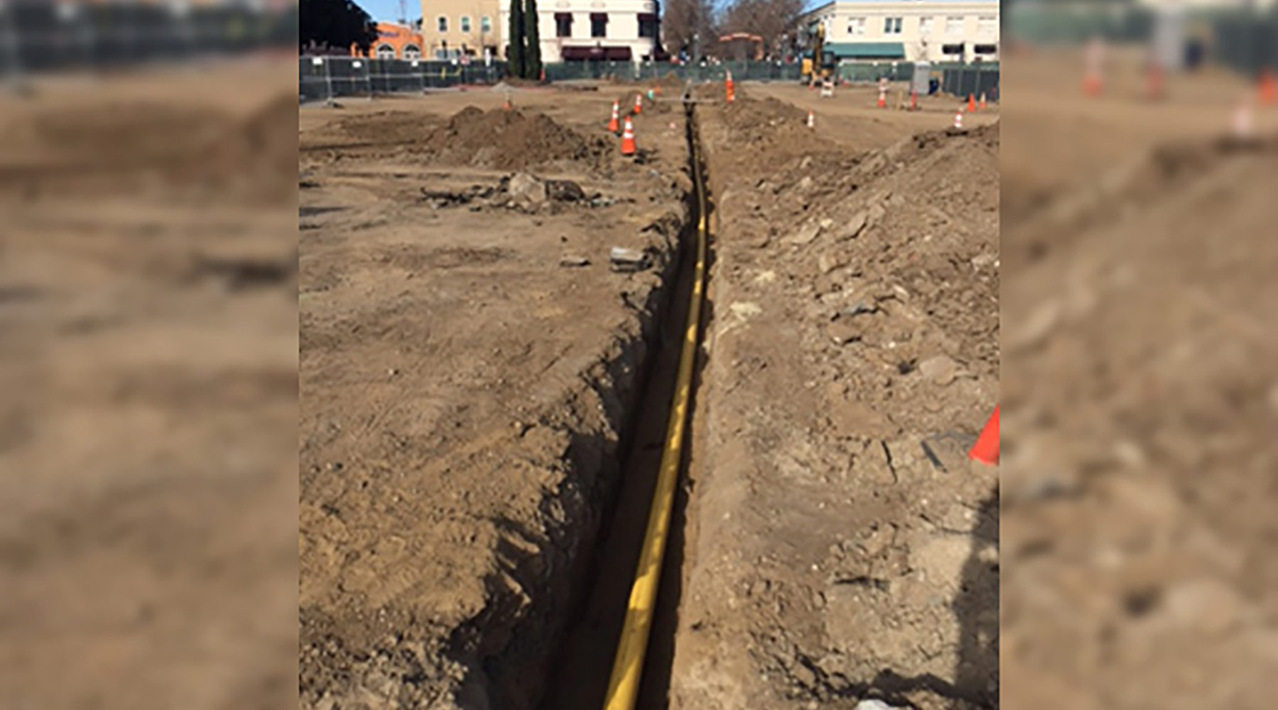 Feb. 2018: New Murphy Ave.gas main pipe install.