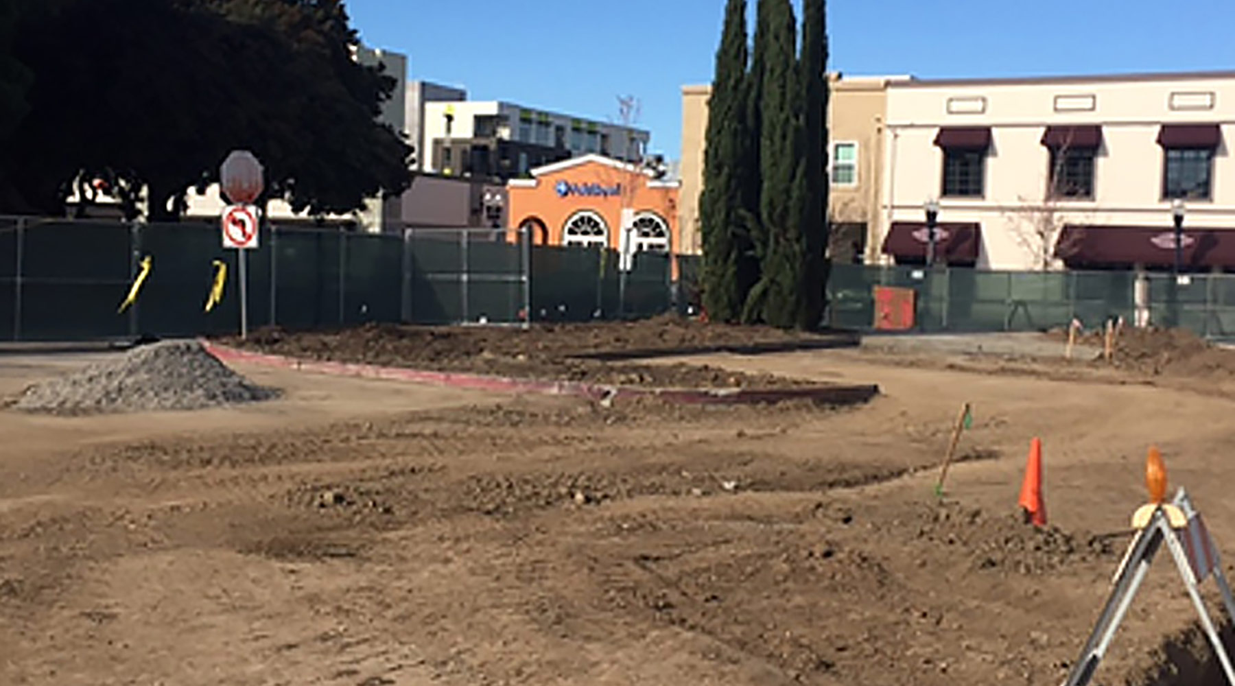 Feb. 2018: New Murphy Ave. demolition work and rough grade.