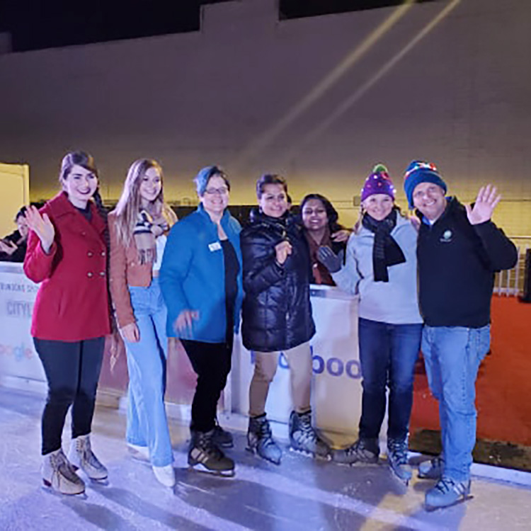 Winter Ice Rink Corporate Events